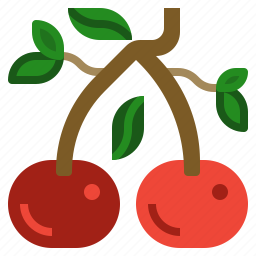 cherries, cherry, cooking, fruit, market icon