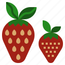 diet, food, fruit, strawberry, vegetarian icon