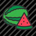 food, fresh, fruit, organic, sweet, watermelon icon