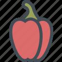 cooking, food, kitchen, paprika, pepper, vegetable, vegetables