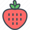 food, fresh, fruit, fruits, healthy, strawberry, vegetable icon