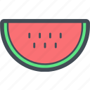 dessert, food, fruit, fruits, restaurant, sliced, watermelon icon