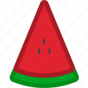 dessert, food, fruit, fruits, healthy, sliced, watermelon icon
