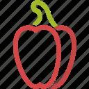 cooking, food, paprika, pepper, restaurant, vegetable, vegetables