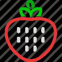 dessert, food, fresh, fruit, fruits, healthy, strawberry icon