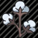soft, plant, fiber, cotton, fluffy, flower icon