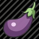 vegetable, food, organic, eggplant, aubergine, vegetarian icon