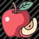 diet, apple, organic, fresh, fruit, vegetarian