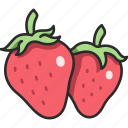 fruit, organic, juicy, strawberry, berry icon