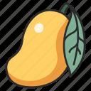 leaf, vegan, food, mango, fruit, juicy