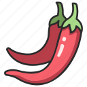 pepper, spice, chili, organic, vegetable, hot, spicy icon
