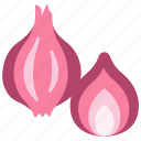 healthy, vegetable, shallot, food, vegetarian, organic, onion icon
