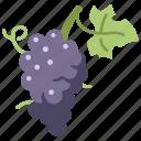 healthy, fresh, grape, bunch, fruit, food