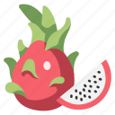 dragon, cut, fresh, healthy, slice, fruit, vegan