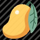 mango, leaf, juicy, fruit, food, vegan