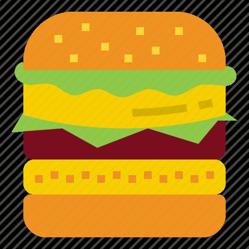 beef, burger, hamburger, salad, snack icon