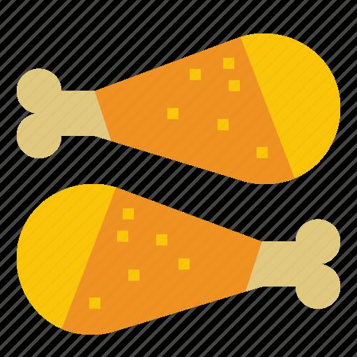 Chicken, chickendrumstick, chickenpiece, drumstick icon - Download on Iconfinder