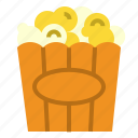 corn, movie, popcorn icon
