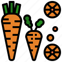 carrot, cooking, food, market, vegetable icon