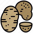 food, healthy, potato, vegetable, vegetarian icon