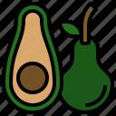 avocado, diet, food, fruit, vegetarian icon