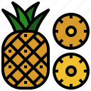 food, fruit, fruits, natural, pineapple icon