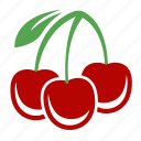 cherry, food, fruit, sweet icon