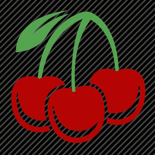 cherry, food, fruit, sweet icon