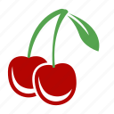 cherries, cherry, food, fruits icon