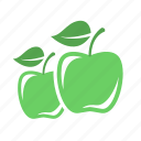 apple, diet, green, health, vegetable icon