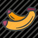 banana, fruit, healthy, vegetarian, organic