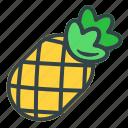 pineapple, fruit, vegetable