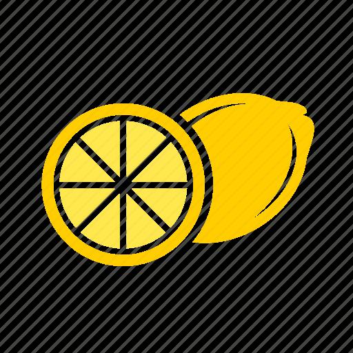 food, fruit, fruits, lemon icon