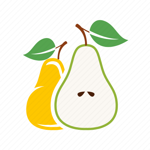 food, fruits, pear icon