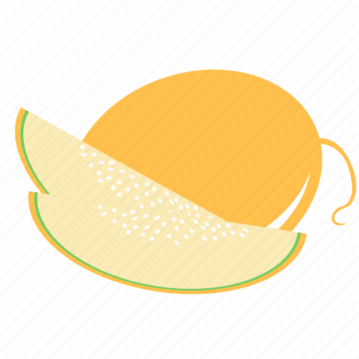 food, fruits, melon, water icon