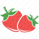 food, strawberry, fruits