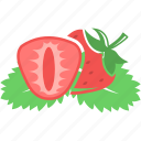 fruit, red, strawberry icon