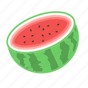 fresh fruit, fresh melon, fruit, melon, watermelon icon