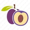 food, fruit, plum, sweet icon