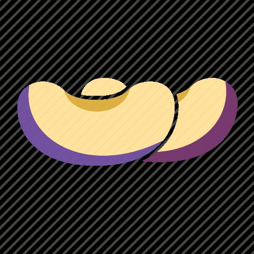 blue, food, fruit, plum icon