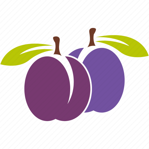food, fruit, plum, sour icon