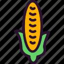 and, corn, fruit, vegetable, vegetables