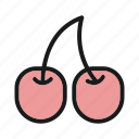 cherry, food, fruit, vegetable icon