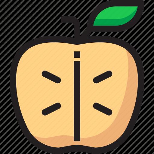 Apple, food, fruit, organic, slice icon - Download on Iconfinder
