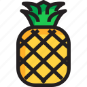 food, fruit, organic, pineapple, tropical icon