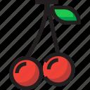 cherry, food, fruit, organic