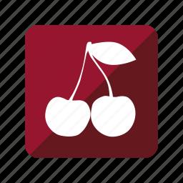 cereza, cherry, fruit, fruta icon