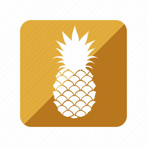 fruit, fruta, pineapple, piña icon