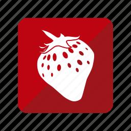 fresa, fruit, fruta, strawberry icon