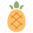 fresh, fruit, organic, pineapple, ripe, summer, tropical icon